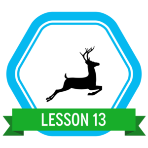 "Badge icon ""Deer (154)"" provided by The Noun Project under The symbol is published under a Public Domain Mark"